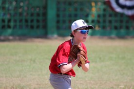 Andrew Goodrich of team Vermont gets ready for the pitch in the team's game against La Habana.