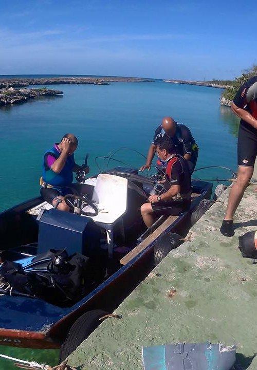 Equipo de Cuba Blue Diving