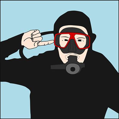 no puedo compensar - señales de buceo - Cuba Blue Diving