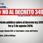 Decreto 349 campain