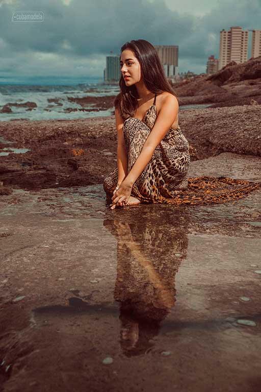 fotografia a quinceañera en el agua