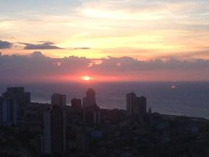 Havana sunset from atop TV Building, Havana.