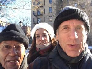L-R: Roberto, Barbara, and Charles in NYC.