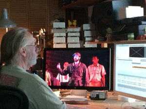 Video editor Dan Friedman edits Havana performance of Cubanacan opera.