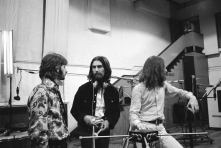 Beatles and Billy Preston recording Something
