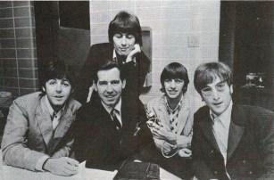 WCFL Sound 10 survey October 1966 Beatles w DJ Jim Stagg on final tour 1966 (cropped)