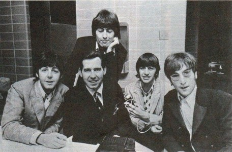 WCFL Sound 10 survey October 1966 Beatles w DJ Jim Stagg on final tour 1966 (cropped)