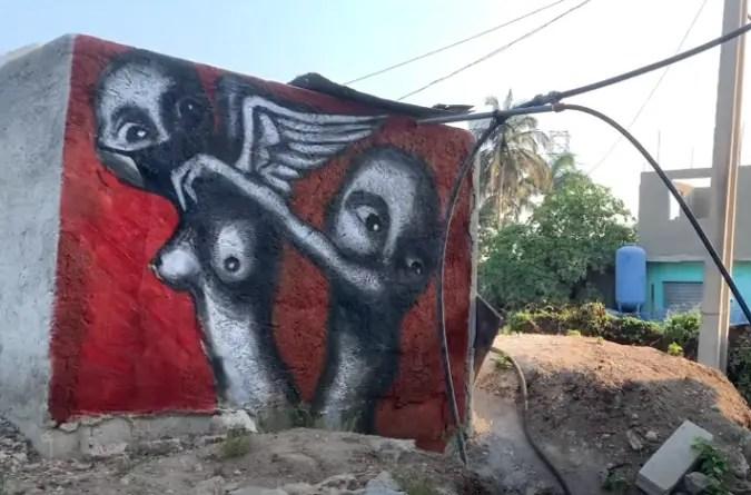 Grafitero cubano Yulier P dibuja la agonía provocada por la COVID-19