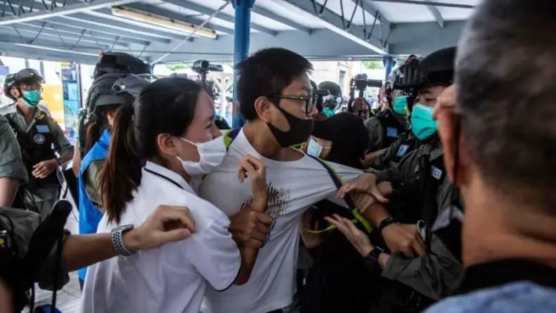 Protestas y represión en Hong Kong tras paréntesis por coronavirus
