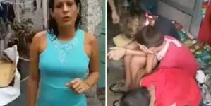 """""""Estoy cansada de pasar trabajo"""": Madre con tres hijos estalla contra el régimen"""