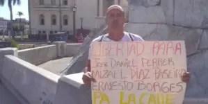 Decomisan alimentos y aseo del preso político Luis Enrique Santos Caballero