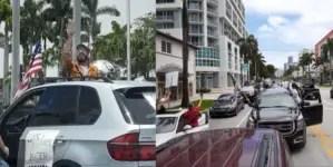 Cubanos marchan en Miami contra la violencia y en respaldo a la policía