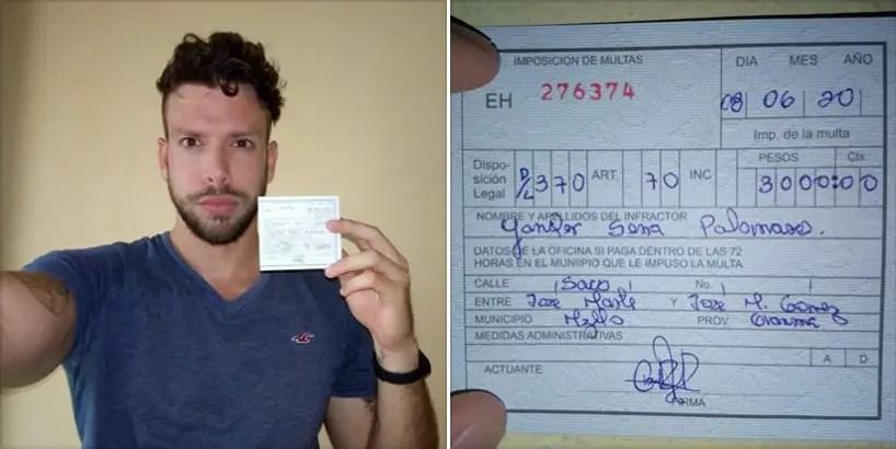 Imponen 3 000 pesos de multa al youtuber cubano Yander Serra