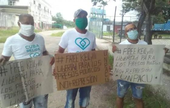 Activistas de la UNPACU y Cuba Decide