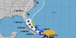 Tormenta tropical Isaías avanza en dirección a la Florida