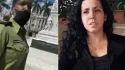 Policía política detiene a Camila Acosta en el Parque Central de La Habana