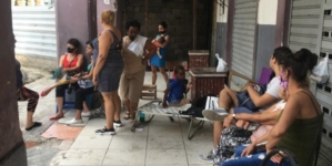 Nueve familias acampan en portal tras derrumbe en edificio de La Habana Vieja