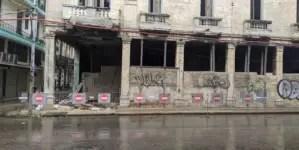 Derrumbe parcial en Centro Habana deja un herido en estado grave