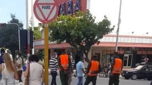 Operativo de la Policía en las inmediaciones del Yara, el 30 de junio.