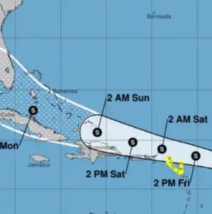 Depresión tropical número 13 podría afectar Cuba y Florida, advierte NHC