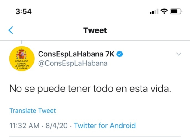 Rudo y grosero, así responde el Consulado de España a los cubanos