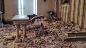 Se derrumba el techo de una iglesia en La Habana