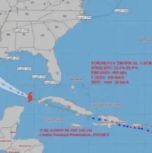 Laura deja fuertes lluvias en el occidente de Cuba mientras se adentra en el Golfo