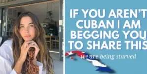 """""""Amigo, la situación se agrava"""": modelo cubana lanza mensaje contra el régimen"""