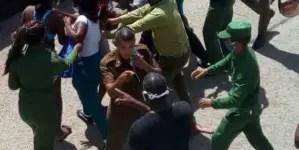 Cola en Santiago de las Vegas termina en trifulca y arrestos