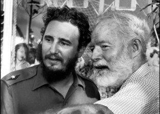 Cuban Fishing, 3-6-15, Fidel Castro & Ernest Hemingway, Source - Photograph La Finca Vigía Museum.