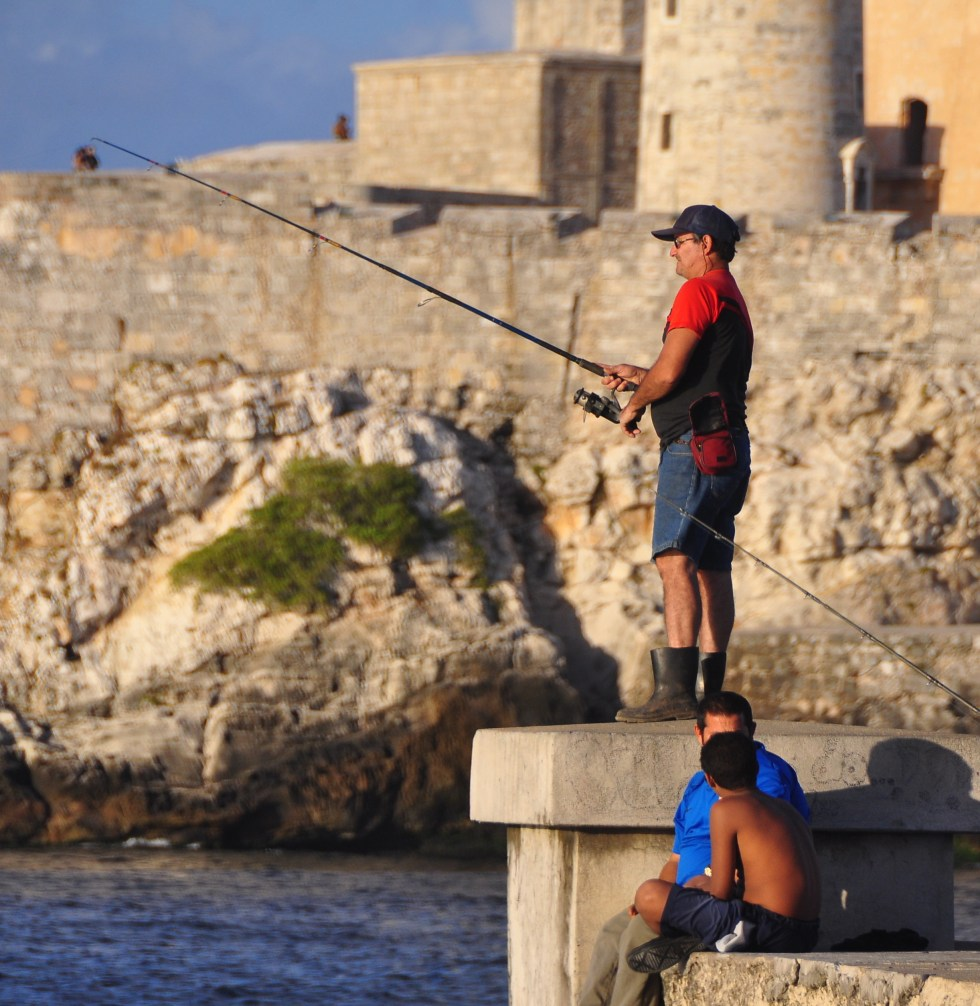 Cuban Fishing, 3/5/15, Havana By Sue Kellerman, Via Creative Commons.
