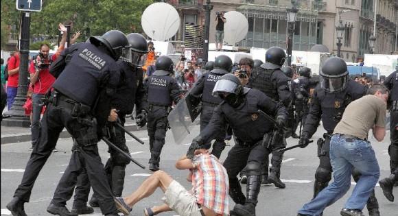 Police brutality in Spain