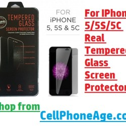 For IPhone 55S5C Real Tempered Glass Screen Protector