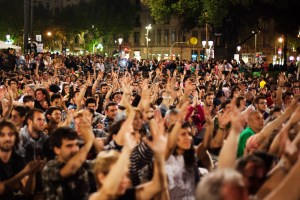 Manifestación por el primer aniversario del 15M en Barcelona. 2012. Fotografía de Victor Parreño Vidiella.