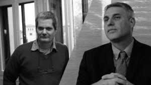 Enrique Ubieta (a la izquierda) y Arturo López-Levy (a la derecha). Foto montaje, fotografías Portal Vermelho y OnCubaópez-Levy (a la derecha)