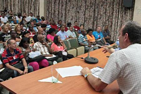 Reunión del sindicato oficialista