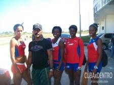 Faustino Hernández y las nuevas figuras de los 400 metros planos.