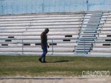 Guillermo Martínez entrenando en el Estadio Panamericano