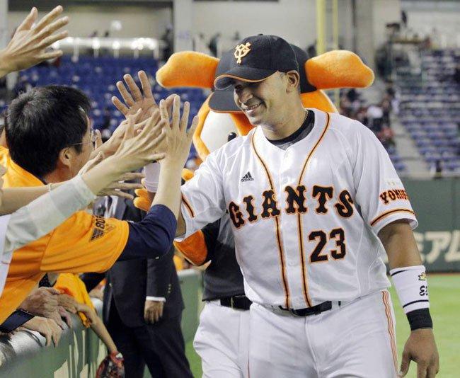 Cepeda en los Gigantes de Yomiuri