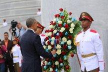 Visita de Barack Obama al Memorial José Martí