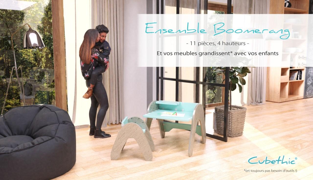 Cubethic meuble évolutif enfant Boomerang