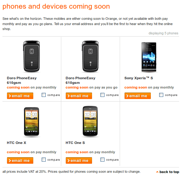 HTC One X and S in Orange Store confirmed