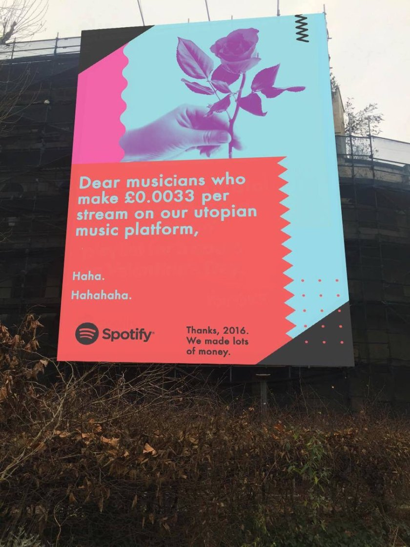 Dear musicians who make £0.0033 per stream on our utopian music platform