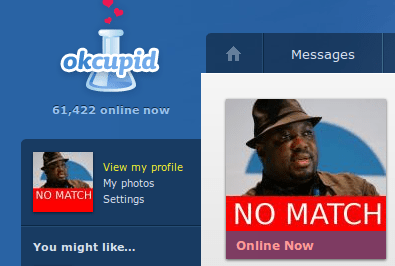 OkCupid no Match protest