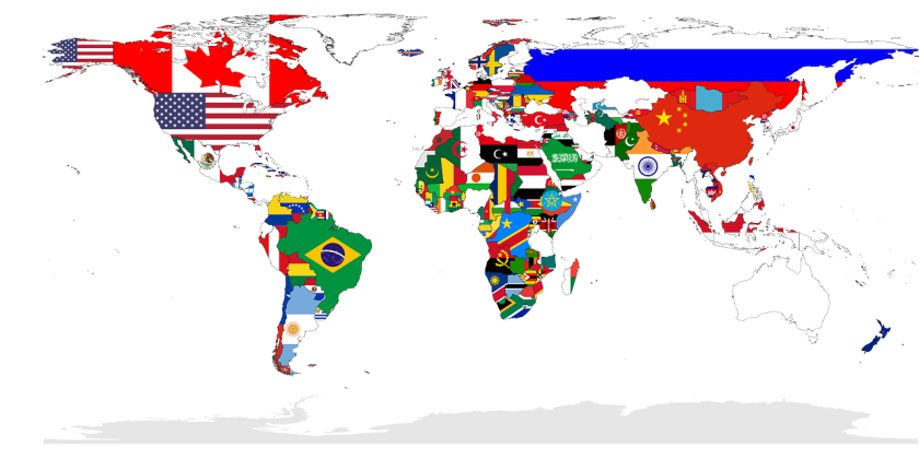 Worldmap in flags