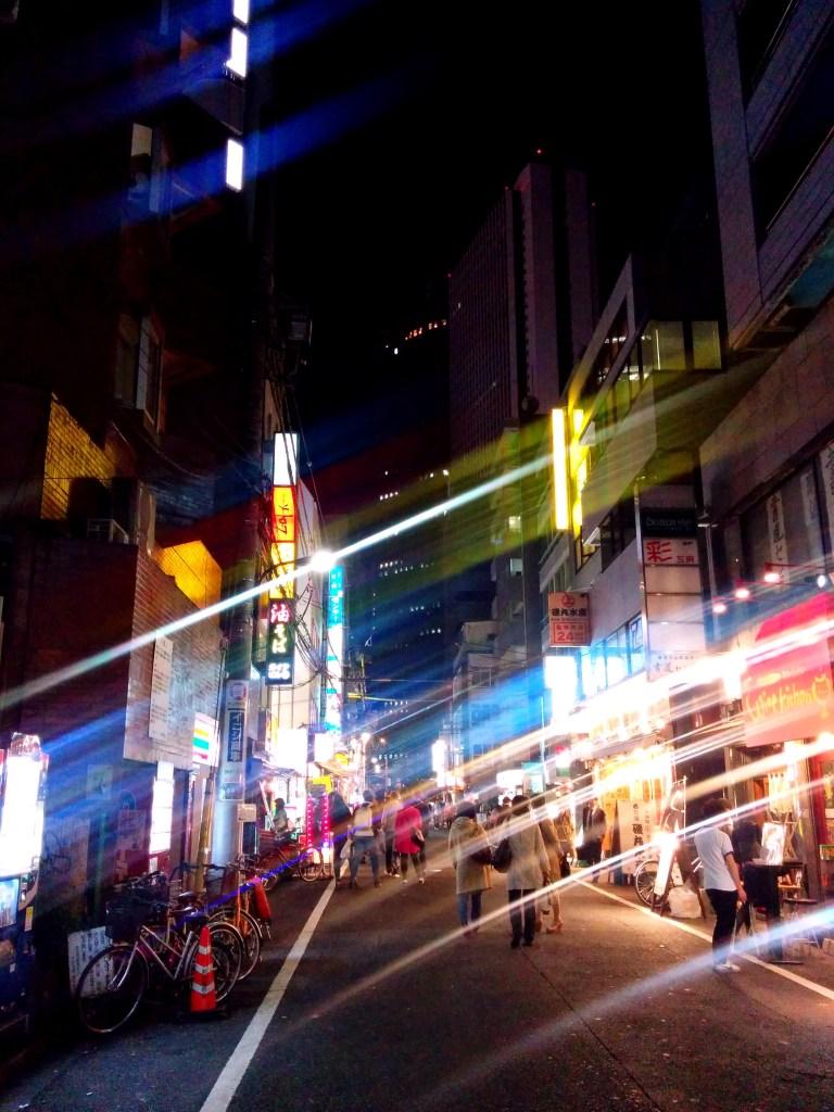 Smuged Tokyo street