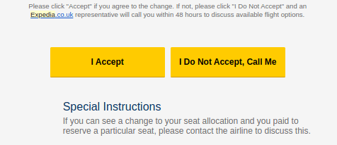 expedia accept changes or not