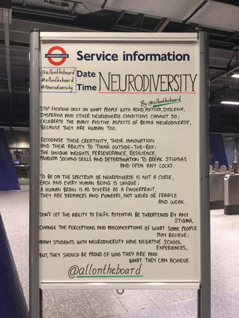 London Underground on neurodiversity
