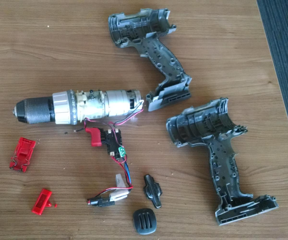 Porter-Cable Drill-03-Disassembled