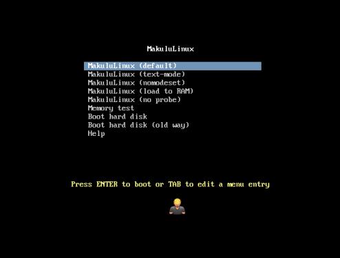 MakuluLinux-01-ISO boot